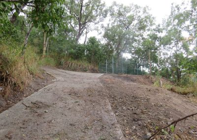 Steep Slope Access Track Concreting / Water Diversion and Culverts